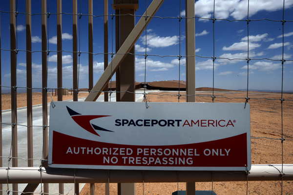 The perimeter fence of Spaceport America near Truth or Consequences