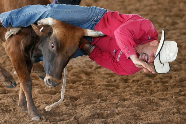 Todd Tramp, 51, competes at the International Gay Rodeo Association's Rodeo In the Rock in Little Rock, Arkansas, United States April 25, 2015. REUTERS/Lucy Nicholson