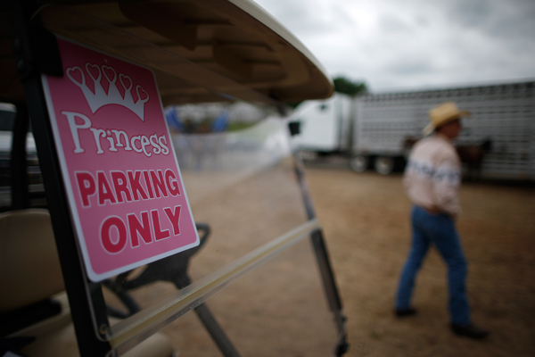 A golf cart with a 'Princess parking only' sign is seen at the International Gay Rodeo Association's Rodeo In the Rock in Little Rock, Arkansas, United States April 26, 2015. REUTERS/Lucy Nicholson